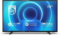 "PHILIPS SMART TV 70"" 4K UHD FLAT WIFI HDR HDMI LAN 70PUS7505/12  NERO GARANZIA"