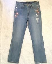 Tommy Hilfiger Embroidered Women's Jeans Size 8 NWT