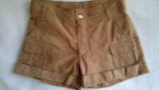 Leather Shorts,LACOSTE,Size 38,Brown,Women's
