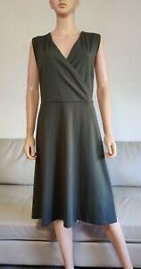 NWT $79 Ann Taylor Sz 22 Plus Sleeveless V Neck Olive Green A-Line Casual Dress