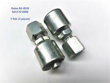 """2 x Gates Mega Crimp 8G-8FJX G25170-0808 1/2"""" Hydraulic Hose Fitting - 1 Pair"""