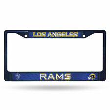 Los Angeles Rams Retro NFL Navy Color Painted Chrome Metal License Plate Frame