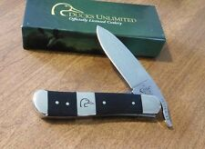 CASE XX New Ducks Unlimited Ebony Wood Russlock Drop Point Blade Knife/Knives
