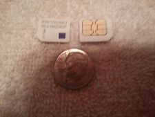 2 LOT MetroPCS GSM MICRO SIM CARD TESTING&BYPASS ONLY! NOT FOR ACTIVATION! READ!