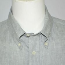 NWT BROOKS BROTHERS Milano Slim Fit Dobby Dot Gray Casual Shirt Sz L
