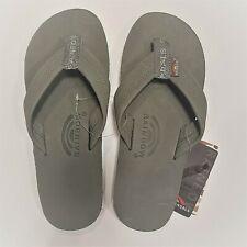 0c7b1ab43dd9 Rainbow Mens Single Layer Sandals Premier Leather Grey Size L (9.5-10.5)