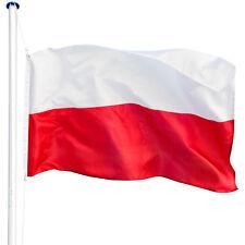 Mât de drapeau aluminium 625 cm drapeau Pologne avec kit jardin drapeaux blason