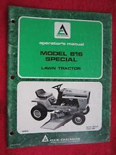1980 ALLIS CHALMERS 616 SPECIAL LAWN TRACTOR OPERATORS MANUAL