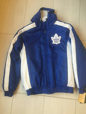 New Toronto Maple Leafs Embroidered Authentic GIII Coat Jacket size Large hooded