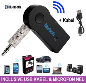Bluetooth Audio Adapter KFZ Receiver AUX Empfänger 3,5mm Klinke PC Handy Auto ✅