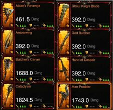 Diablo 3 Ps4 Super Rare Transmogs Visage Of The Betrayer/Spectrum Sword and more