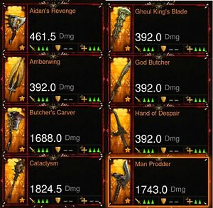 Diablo 3 PS4 Super Rare Transmogs Visage Of The Betrayer/Spectrum Sword and more