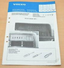 Volvo 240 260 1981- Equalizer Sound Effector Einbauanleitung März 1982