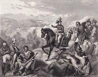 Gravure XIXe Bataille de Zurich Suisse Napoléon Bonaparte Général André Masséna