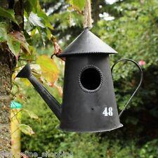 IN METALLO ORNAMENTO VINTAGE Bird House scatola di nidificazione Volatili Selvatici da giardino Antico Rustico