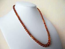 """Edelsteinkette Citrin 47cm Halskette  4 - 8,5 mm Perlen Collier """"True Gems"""""""