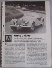 1968 Morgan Plus Eight 3.5-litre Original motor magazine Road test