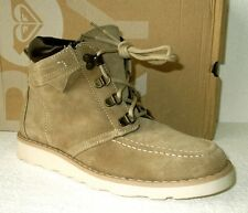NEW ROXY 'Joelle' Sand Real Suede Lace-up Desert Ankle Boots UK Size 4
