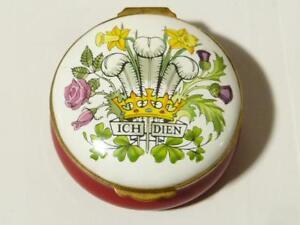 Charles & Diana Royal Wedding 1981 Large Enamel Box Crummles BOXED #B19