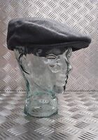 Dark Grey Wool Mix Quilt Lined Grandads Hat / Flat cap like Cheese Cutter Cap
