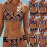 Women Bohemia Beach Bikini Set Push-Up Padded Bra Swimwear Beachsuit Bathing KE