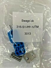 Lot of 10 pieces 316-S1-PP-12TM Swagelok Plastic Clamp 12 mm Tube Size