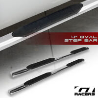 """For 2004-2008 F150 Super Cab 4"""" Oval Chrome Side Step Nerf Bars Running Boards"""