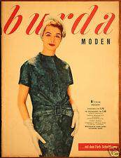 Burda Moden 8 / 1958 mit 2 Schnittbogen Modezeitschrift 50er Jahre