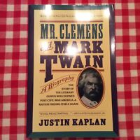 Mr. Clemens and Mark Twain: A Biography, by Justin Kaplin PB- EXCELLENT!