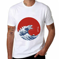 Japan Kanagawa Surfing Cotton Soft Men's Funny T-shirts Casual Short Sleeve Tee