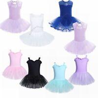 Children Toddler Baby Girls Ballet Dance Wear Dress Leotard Tutu Skirts Outfits