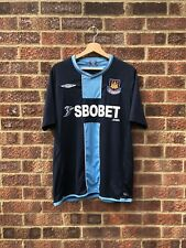 WEST HAM UNITED 2009/2010 AWAY FOOTBALL SHIRT - LARGE