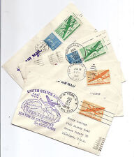 US 1947 FFC Airmail Lot of 4, FAM 14, 18 Around the World - Guam, India, Hawaii*