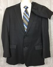 HUGO BOSS Recent Solid Charcoal Gray Suit Super 100s Wool 42R 34x30 (t8)