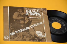 """ENNIO MORRICONE 7"""" 45 GIU LA TESTA COLONNA SONORA ORIG ITALY 1971"""