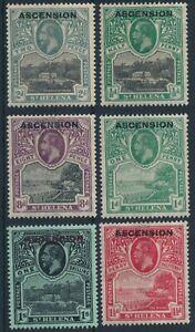 ASCENSION 1922 MINT SHORT SET #1/4, 6, 9, KING GEORGE V !! BEL26