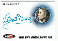 James Bond Heroes & Villains Autograph Card A150 Olga Bisera as Felicca