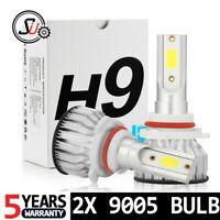 2pcs 9005 HB3 LED Headlight Bulbs Kit High Low Beam 6000K Cool White 55W 8000LM