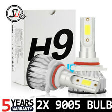 2pcs 9005 HB3 LED Headlight Bulbs Kit High Low Beam 6000K Cool White 55W 8000LM
