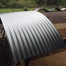 40% Wider Pl Galvanised Curved Corrugated Roofing Sheets for Shepherds Huts Tuin