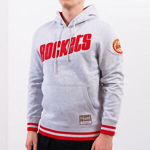 Mitchell & Ness CNY Houston Rockets Hoodie Men's Grey Red Sweatshirt Hoody Top