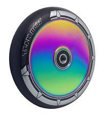 Team Dogz Neochrome Rainbow  Hollow UFO Core 110mm Stunt Scooter Wheel Black PU*