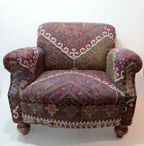 Top Quality Comfortable kilim Armchair,Kilim Upholstery Furniture,kilim armchair