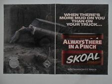 1999 Print Ad Skoal Smokeless Chewing Tobacco ~ More Mud on You Than on Truck
