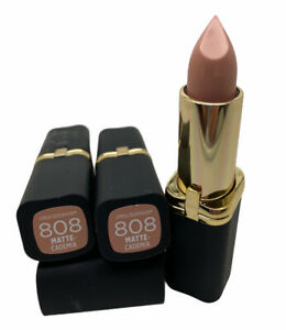 Lot Of 3 L'Oréal Paris Colour Riche Matte Lipstick Matte Cademia 0.13 oz #808
