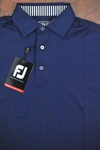 NWT FootJoy ProDry Lisle Performance Polo Shirt Navy Blue Men's Small S