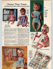 1964 PAPER AD Doll Tiny Tears American Character Happy Nappy Twins Betty Buttons