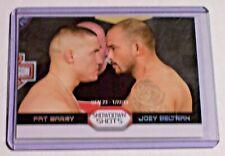 2011 Topps UFC Moment of Truth Diamond Showdown Shots Pat Barry Joey Beltran 1/1