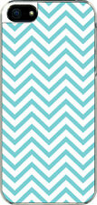 iPhone 5 Aqua Blue Chevron Designed Sticker on Hard Case Cover