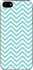 iPhone 5 Aqua Blue Chevron Designed Sticker on Hard Case Cover